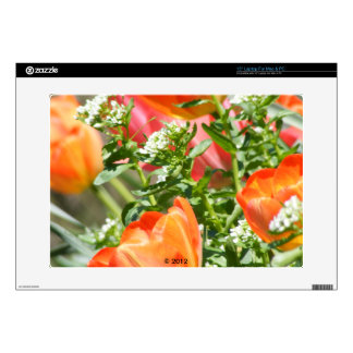 """Spring Flowers and Tulips Skin Skins For 15"""" Laptops"""