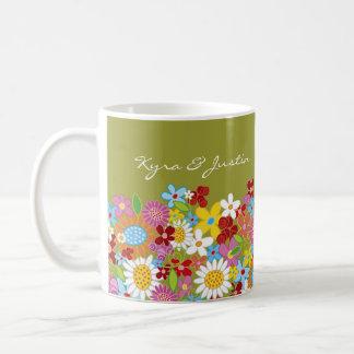 Spring Flowers Announcement / Gift / Favors Mug