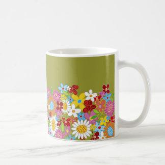 Spring Flowers Announcement Gift Favors Mug