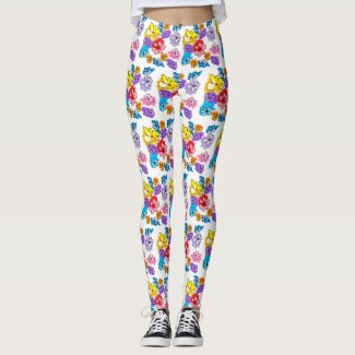 Spring Flowers art by EelKat Leggings