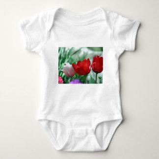 Spring flowers baby bodysuit