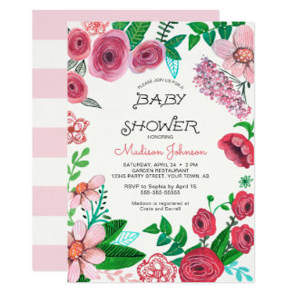 Spring Flowers | Baby Shower | Invitation