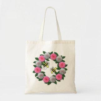 spring flowers & bees tote bag