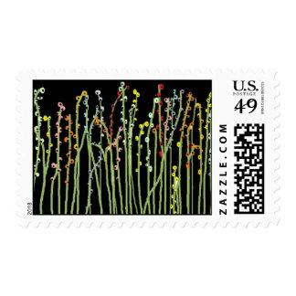"""SPRING FLOWERS"" Black Collection Postage Stamp"
