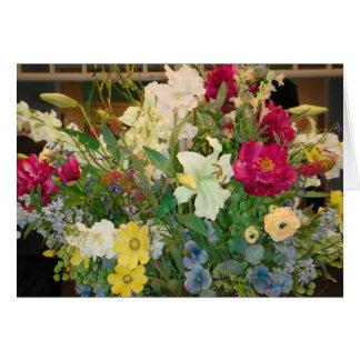 Spring Flowers Blank Note Card