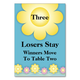 Spring Flowers Bunco Table Card #3