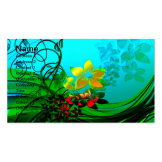 Spring Flowers Double-Sided Standard Business Cards (Pack Of 100)