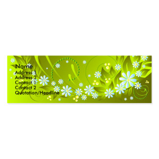 spring flowers Double-Sided mini business cards (Pack of 20)