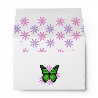 Spring Flowers & Butterfly Envelope envelope