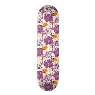 Spring Flowers & Butterfly Skateboard Deck