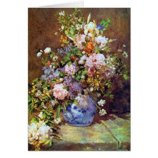 Spring Flowers by Renoir Greeting Card