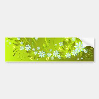 spring flowers car bumper sticker