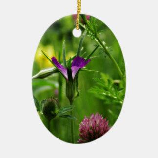 Spring flowers ceramic ornament