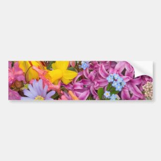 SPRING FLOWERS COLORFUL ASSORTMENT NATURE BEAUTY BUMPER STICKER