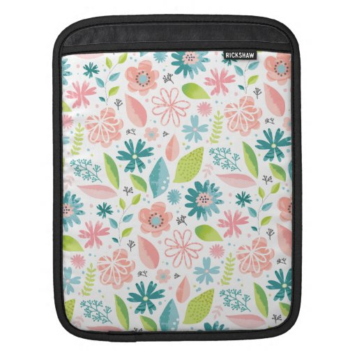 SPRING FLOWERS COLORFUL PATTERN iPad SLEEVE