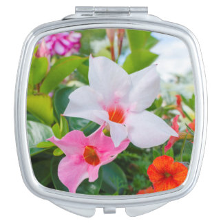spring flowers compact mirror
