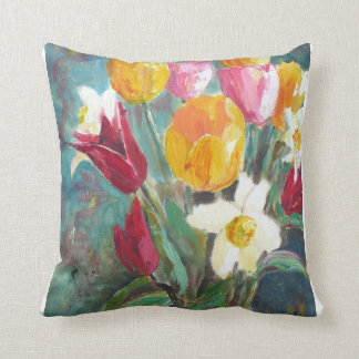 Spring flowers cushion pillow