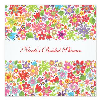 Spring Flowers Custom Bridal Shower Invitation