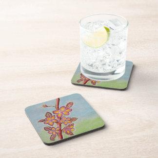 spring flowers drink coaster