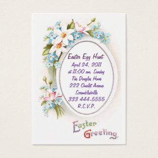 Spring Flowers Easter Egg Hunt Invitation