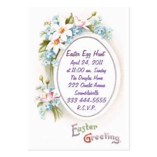 Spring Flowers Easter Egg Hunt Invitation Business Card Templates