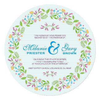 Spring Flowers Easter Wreath Wedding Invite