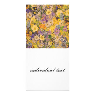 spring flowers effect photo card
