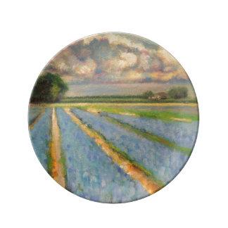 Spring Flowers Field 3/3 Porcelain Plate