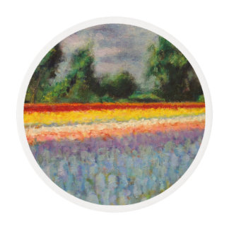 Spring Flowers Fields Triptych image number 1/3 Edible Frosting Rounds