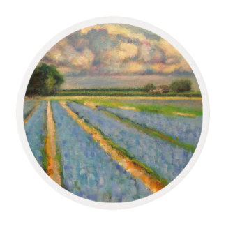 Spring Flowers Fields Triptych image number 3/3 Edible Frosting Rounds