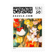 Spring Flowers. Fine Art Easter Postage Stamp