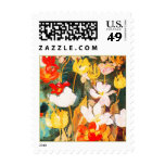 Spring Flowers. Fine Art Easter Postage Stamp Stamps