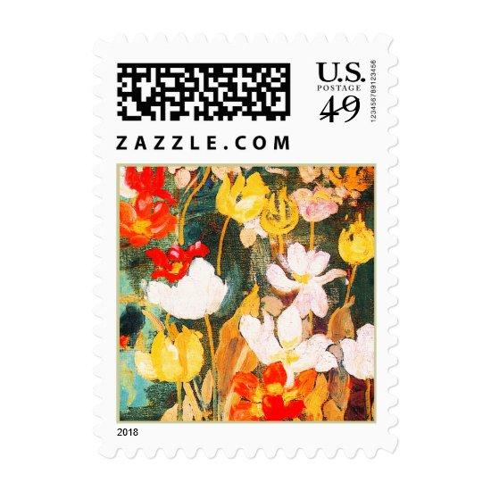 Spring Flowers. Fine Art Easter Postage Stamp