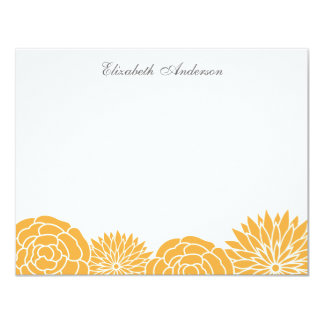Spring Flowers Flat Thank You Notes {orange} Card