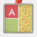 Spring Flowers; floral Christmas Tree Ornaments