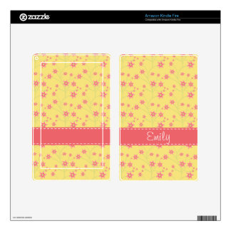 Spring Flowers Floral Pattern Kindle Fire Decals