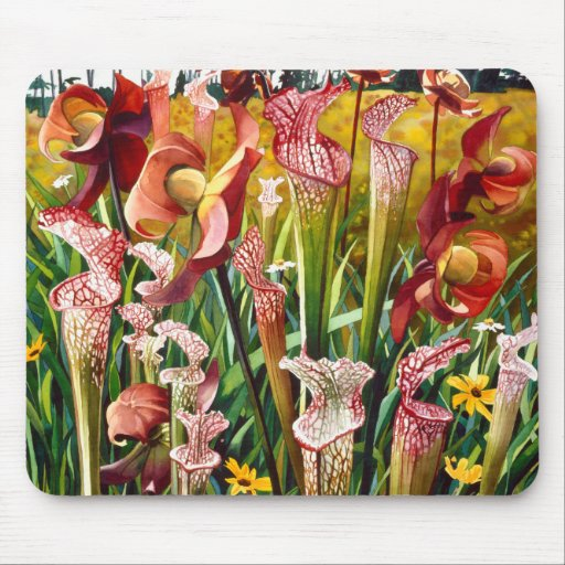 """""""Spring Flowers"""" Floral Watercolor Art Mouse Pad"""