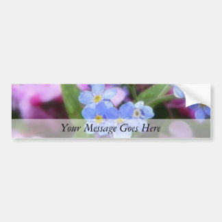 Spring Flowers - Forget Me Nots And Redbuds Bumper Sticker