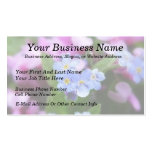 Spring Flowers - Forget Me Nots And Redbuds Business Card Template