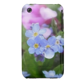 Spring Flowers - Forget Me Nots And Redbuds iPhone 3 Case-Mate Cases