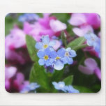 Spring Flowers - Forget Me Nots And Redbuds Mouse Pad