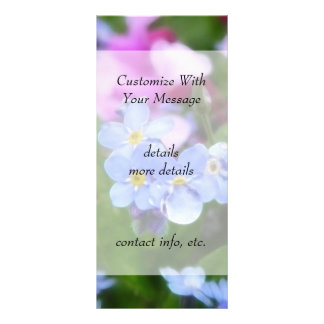 Spring Flowers - Forget Me Nots And Redbuds Personalized Rack Card