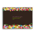 Spring Flowers Garden Bridal Shower Envelope