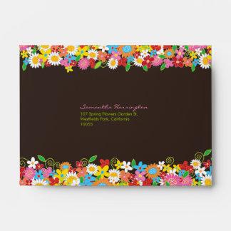 Spring Flowers Garden Bridal Shower Envelope