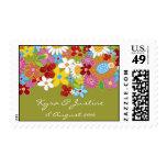 Spring Flowers Garden Bridal Wedding Shower Stamps