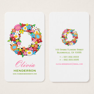 Spring Flowers Garden Chic Monogram O Profile Card