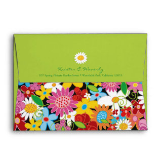 Spring Flowers Garden Fun Blooms Birthday Envelope