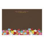 Spring Flowers Garden Note Card Custom Stationery