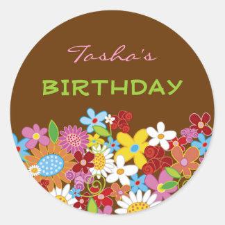 Spring Flowers Garden Party Favors Label / Sticker