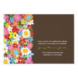 Spring Flowers Garden Whimsical Wedding Reception 3.5x5 Paper Invitation Card